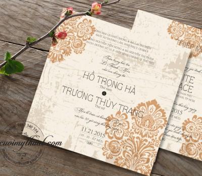 Thiệp cưới vintage